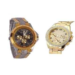 Paidu and Rosra Combo of 2 Casual Watches For Men by  fashionbazaar