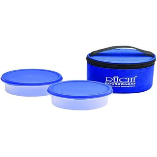 Super Fresh Tiffin Set Ruchi Food Storage Containers With Bag Leak Proof Air Tight 2 Containers Lunch Box  (500 ml)