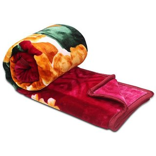 Oosam Single Bed Mink Blanket set of 2 pecs Gold Quality  (Multi Color Multi Dezine )