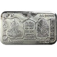 10 Grams 999 Purity Hallmarked Lakshmi Ganesha Silver Bar