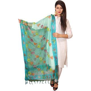Vasavi Blue Silk Printed Dupatta