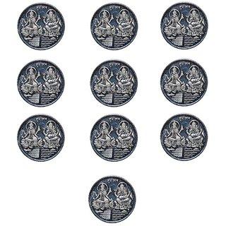 Kataria Jewellers Lakshmi Ganesha 10 Gm Silver Coins With Diwali Gift Box Pack Of 10
