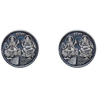 Kataria Jewellers Lakshmi Ganesha 10 Gm Silver Coins With Diwali Gift Box Pack Of 2