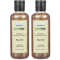 Healthbuddy Zerotox Handmade Conditioning Shampoo Heena Tulsi 2 Packs Of 210 Ml Each