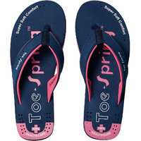 Toe Spring Health Care Navy-Pink Flip Flop For Women
