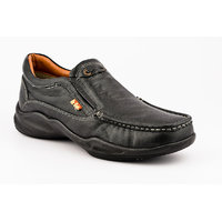 Lee Cooper Men's Black Slip On Casual Shoes