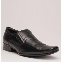 Lee Copper Men's Black Slip On Formal Shoes