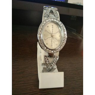 new style diamond dial oval  shape watch