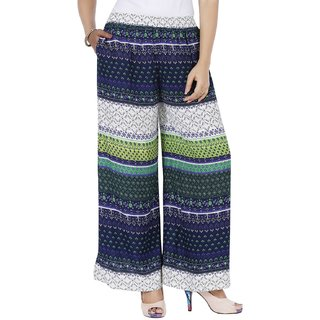 Mayoni Women'S Rayon Free Size Multicolor Plazzos