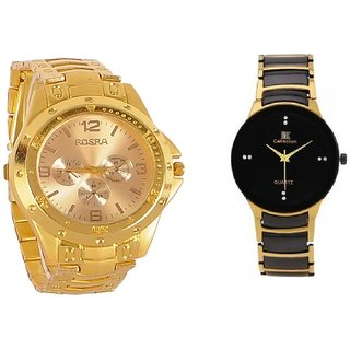 IIK COLLECTION And ROSRA Stylish Casual Watches For Men- Combo by