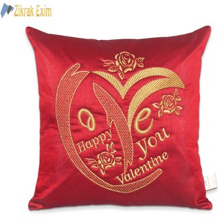 Happy Valentine Embroidery Cushion Covers 40 X Cms(1 Pc)
