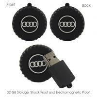 Shopizone Designer 32 GB Fancy USB Flash Drive Pen Drive Memory Stick U Disk Audi Wheel
