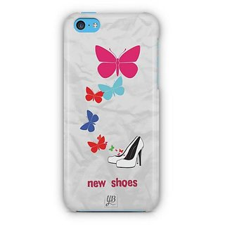 YuBingo New Shoes & Butterflies Designer Mobile Case Back Cover for Apple iPhone 5C