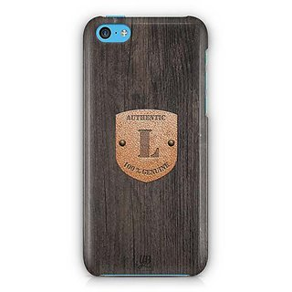 YuBingo Monogram with Beautifully Written Wooden and Metal (Plastic) Finish letter L Designer Mobile Case Back Cover for Apple iPhone 5C