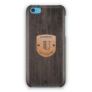 YuBingo Monogram with Beautifully Written Wooden and Metal (Plastic) Finish letter U Designer Mobile Case Back Cover for Apple iPhone 5C
