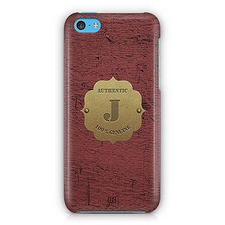 YuBingo Monogram with Beautifully Written Wooden and Metal (Plastic) Finish letter J Designer Mobile Case Back Cover for Apple iPhone 5C