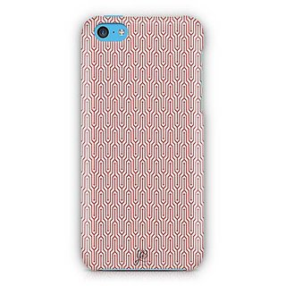 YuBingo Red and white abstract design Designer Mobile Case Back Cover for Apple iPhone 5C