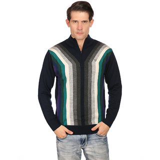 Neva Navy V-Neck Long Sleeve Pullover For Men