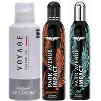 Park Avenue Impact Magnifico,Icon,Voyage Prefumed Deodorants Pack Of 3 For Men Combo Set (Set Of 3)