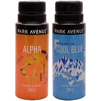 Park Avenue Park Avenue Alpha, Cool Blue Pack Of 2 Deodorants Combo Set (Set Of 2)