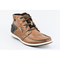 Lee Cooper Men's Tan Lace-up Casual Shoes