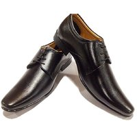 Ss Footwear Men Black Synthetic Formal Shoes