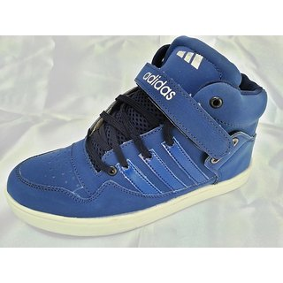 04  ADIDAS  HIGH ANKLE BASKETBALL SNEAKERS BLUE