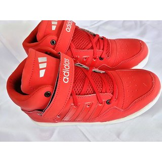 05  ADIDAS  HIGH ANKLE BASKETBALL SNEAKERS RED