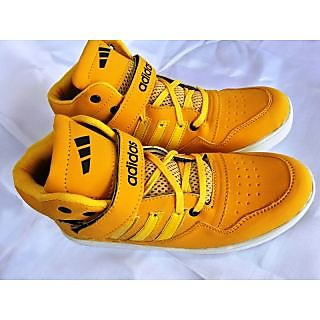 06  ADIDAS  HIGH ANKLE BASKETBALL SNEAKERS YELLOW