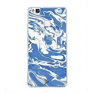 YuBingo Blue White Marble Finish (Plastic) Designer Mobile Case Back Cover for Huawei P9 Lite