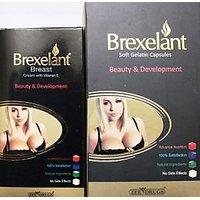 Combo Pack Of Brexelant Breast Cream & Capsules (for Beauty & Development)