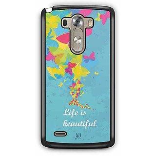 YuBingo Life is Beautiful Designer Mobile Case Back Cover for LG G3
