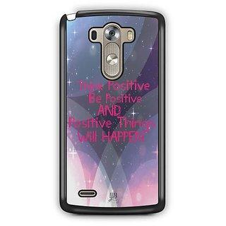 YuBingo Think Positive Designer Mobile Case Back Cover for LG G3