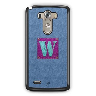 YuBingo Monogram with Beautifully Written Jeans and Girly Leather Finish letter W Designer Mobile Case Back Cover for LG G3