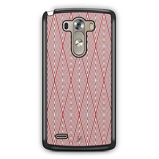 YuBingo Red Rhombus Pattern Designer Mobile Case Back Cover for LG G3