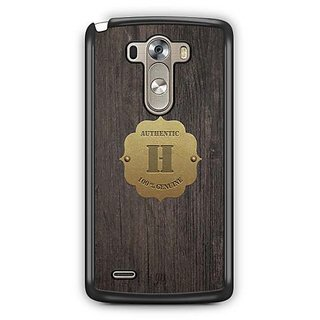 YuBingo Monogram with Beautifully Written Wooden and Metal (Plastic) Finish letter H Designer Mobile Case Back Cover for LG G3