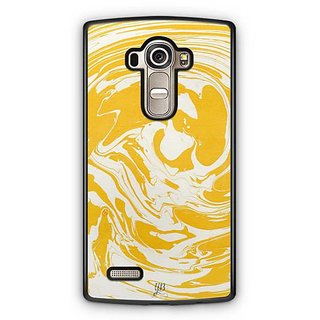 YuBingo Yellow White Marble Finish (Plastic) Designer Mobile Case Back Cover for LG G4