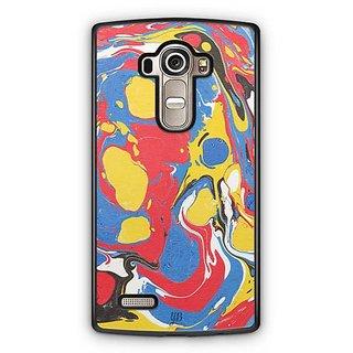 YuBingo Red Blue Marble Finish (Plastic) Designer Mobile Case Back Cover for LG G4