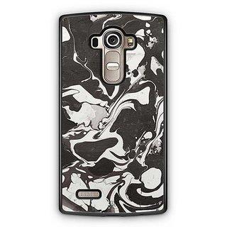 YuBingo Black and White Marble Finish (Plastic) Designer Mobile Case Back Cover for LG G4