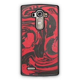 YuBingo Red Black Marble Finish (Plastic) Designer Mobile Case Back Cover for LG G4