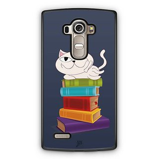 YuBingo Cat on Books Designer Mobile Case Back Cover for LG G4