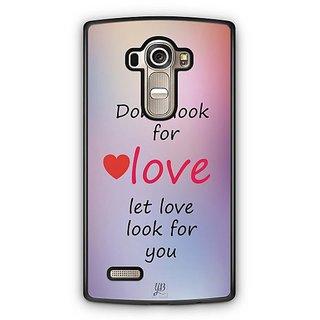 YuBingo Let Love Look For You Designer Mobile Case Back Cover for LG G4
