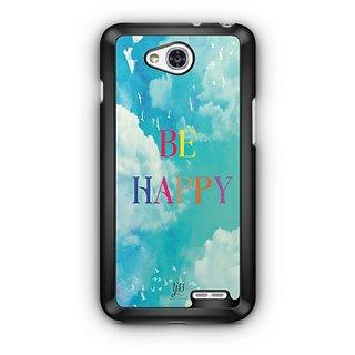 YuBingo Be Happy Designer Mobile Case Back Cover for LG L90