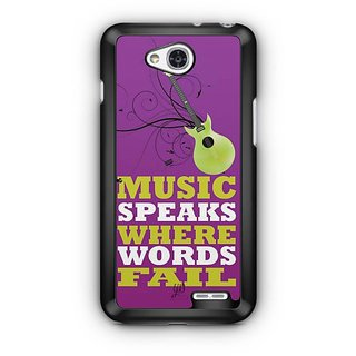 YuBingo Music Speaks Where Words Fail Designer Mobile Case Back Cover for LG L90