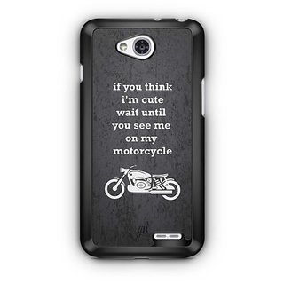 YuBingo See Me On My Motorcycle Designer Mobile Case Back Cover for LG L90