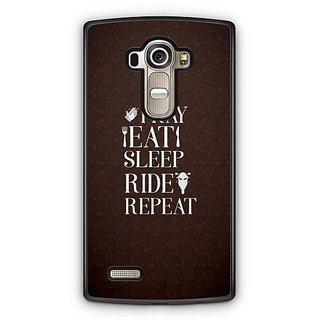 YuBingo Pray, Eat, Sleep, Ride, Repeat Designer Mobile Case Back Cover for LG G4