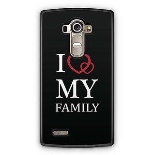 YuBingo I Love My Family Designer Mobile Case Back Cover for LG G4