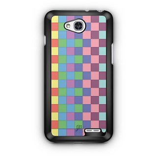 YuBingo Colourful Square Patterns Designer Mobile Case Back Cover for LG L90