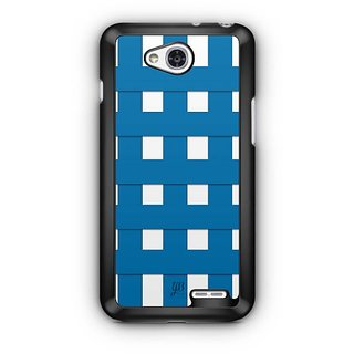 YuBingo Blue Square Pattern Designer Mobile Case Back Cover for LG L90