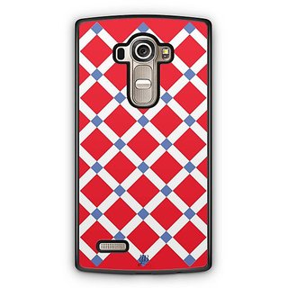 YuBingo Red Square Pattern Designer Mobile Case Back Cover for LG G4